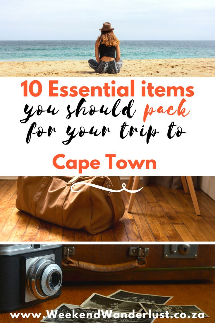If you are planning a trip to Cape Town, South Africa, here are the top 10 things you need to pack to make the most of your trip