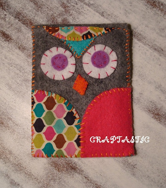 copycat felt owl iphone cover tutorial - crafts ideas - crafts for kids