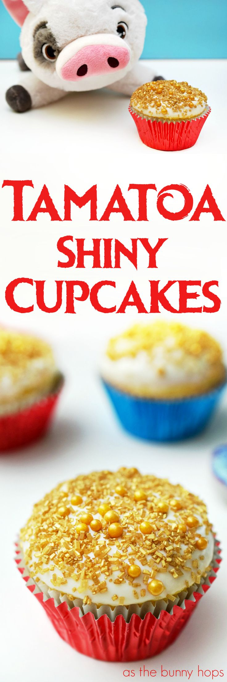 Make your movie night sparkle with Moana-inspired Tamatoa Shiny Cupcakes! Just two easy steps. (Not including guarding your cupcakes from Pua!)