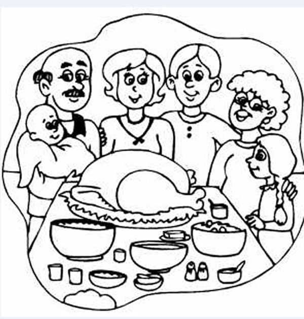 Dibujo Familia En Navidad Paginas Para Colorear Para Ninos Dibujos De Accion De Gracias Familia En Navidad