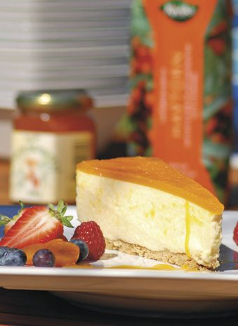 Havtornscheesecake | cheesecake with common sea-buckthorn