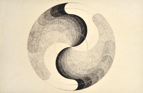 Erika Giovanna Klien: Turbine, schwarze Kreide, 1932