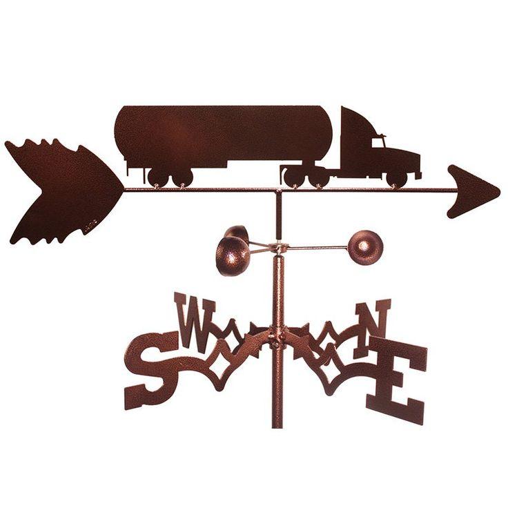 SWEN Products Oil Tanker Semi Truck Weathervane - 1106-GARDEN