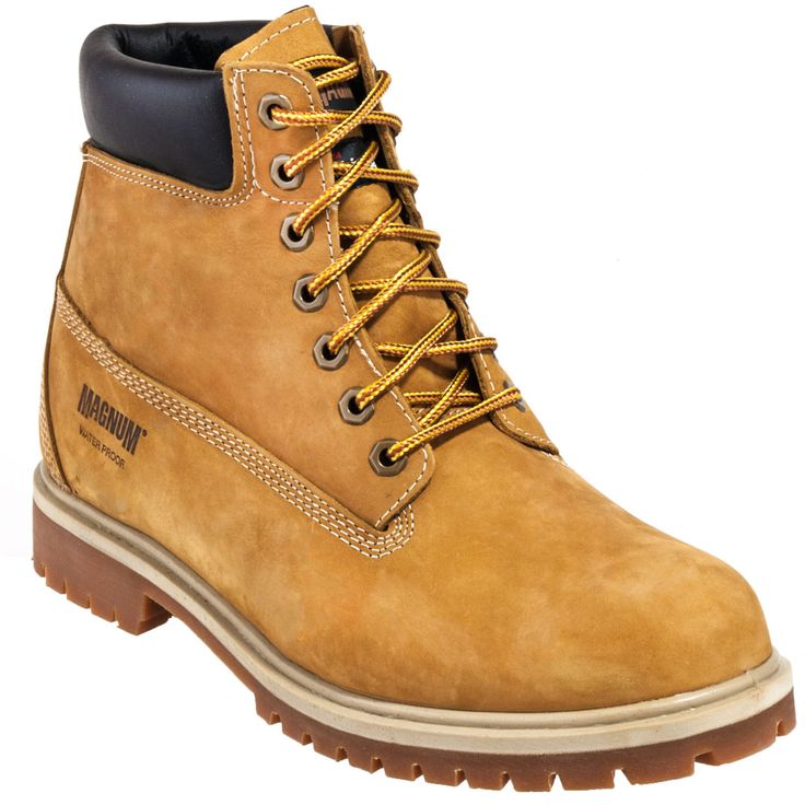 Magnum Boots Men's Tan Waterproof Insulated Foreman Work Boots 7817