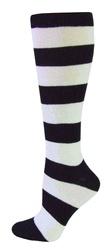 Black & White Stripe Knee High Socks