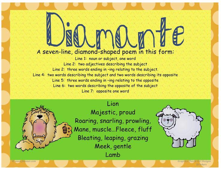 Diamante Poem Examples | Poetry - Mrs. Warner's 4th Grade ...