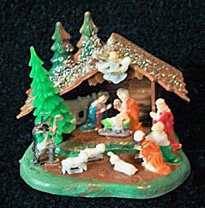 Nativities: the little plastic vintage ones. We had one.