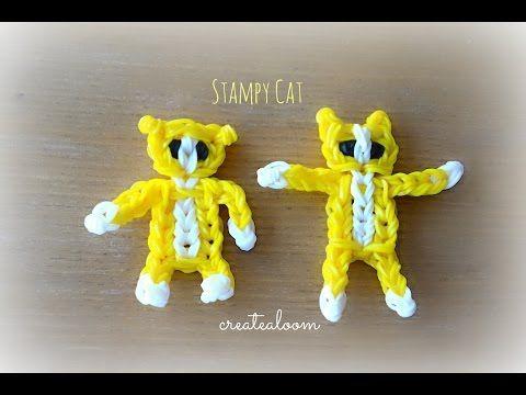 Stampy Cat Minecraft Charm/Mini Figurine Rainbow Loom Tutorial by Createaloom! - YouTube