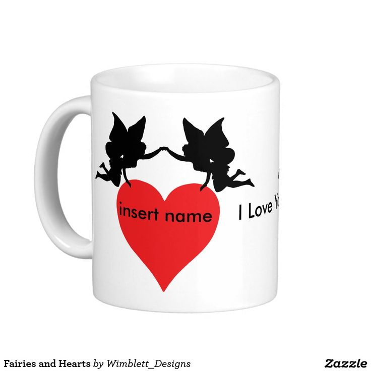 Fairies and Hearts Basic White Mug