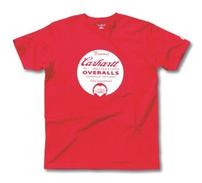 EK050 Carhartt Europe Workwear Heritage Cowboy Graphic T Shirt Red