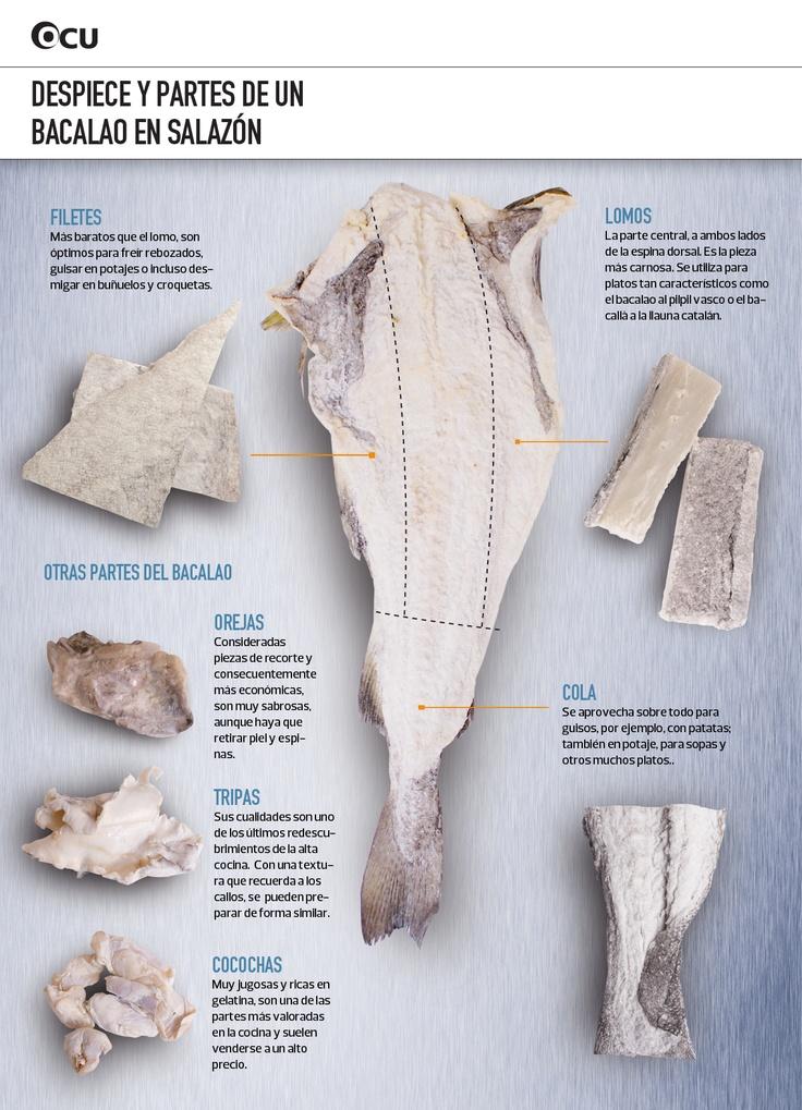 Aprende a hablar como un lobo de mar. Despiezamos un bacalao y te enseñamos cómo son y para qué sirven sus diferentes partes.