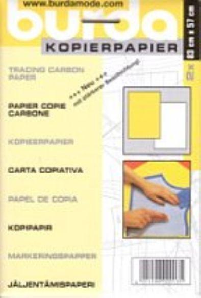 Burda kopieerpapier carbonpapier 57x83 cm wit-geel a 1 vel