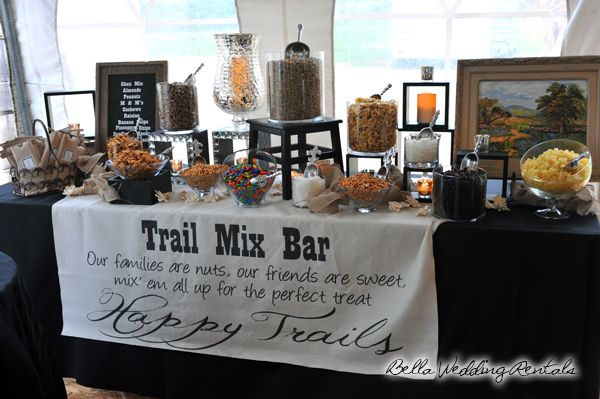 how to decorate a trail mix bar - Google Search -repinned from Southern California officiant https://OfficiantGuy.com