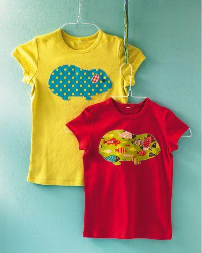 T-Shirt für Kinder mit selbstgemachtem Aufnäher #diy #selbermachen