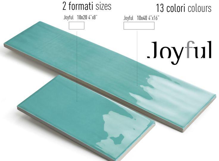 Tonalite collezione Joyful40, 10x40 e Joyful20, 10x20, 13 colori lucidi su superficie strutturata. Tiles, piastrelle, ceramiche, ceramica, walltiles, floortiles, rivestimento, pavimento, herringbone, posa incrociata