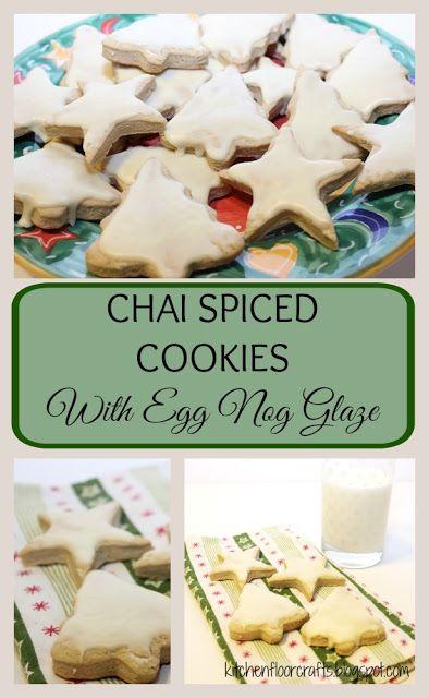 Kitchen Floor Crafts: Chai Spiced Cookies with Egg Nog Glaze