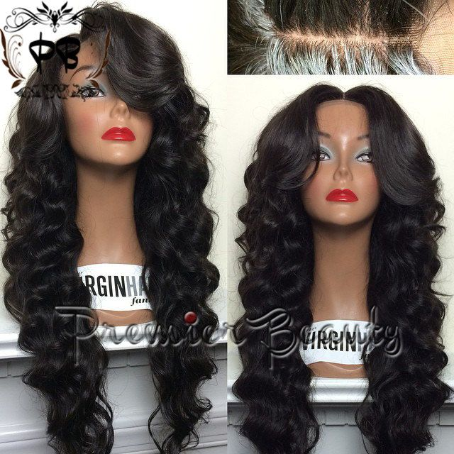 Freeshipping Silk Top lace wig 100 unprocessed by PREMIERBEAUTY