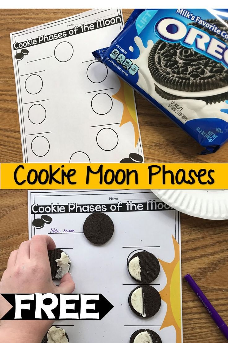Use Oreos Or Other Cream Filled Cookies To Recreate The Moon Phases Fun And Interactive Science Unit Moon Activities Moon Phases Activities Oreo Moon Phases [ 1104 x 736 Pixel ]