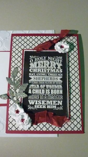 vintage christmas o holy night: Papercrafts, Cards Holiday, Christmas Card, Photo