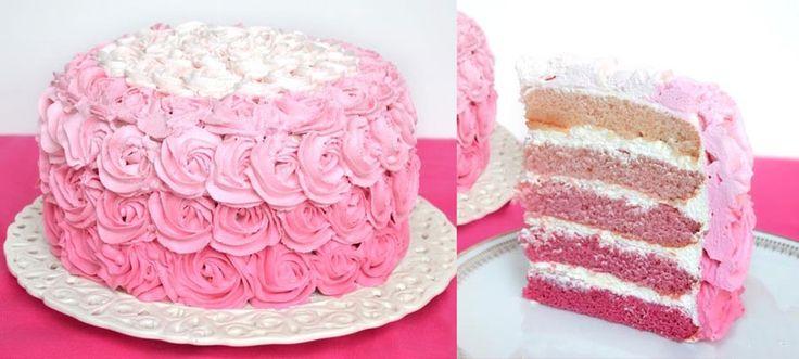 Layer cake rose, un délicieux et beau gâteau à préparer facilement avec thermomix, pour épater votre famille, voici la recette détaillée en photos.