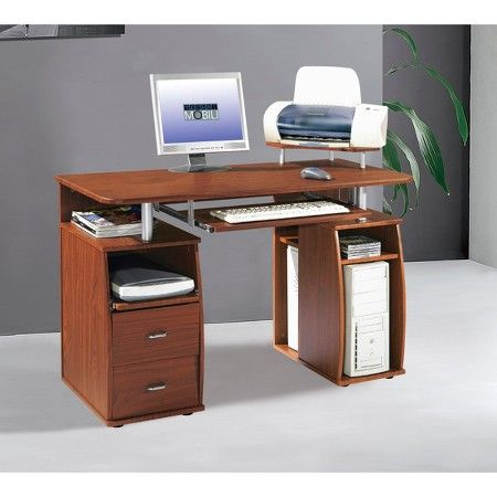 Complete Workstation with Storage Mahogany - Techni Mobili : Target
