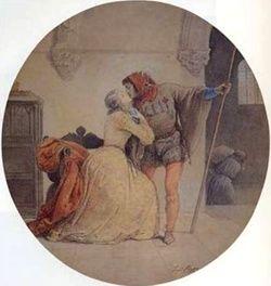 Una versione del bacio di Francesco Hayez, scoperta di recente ed esposta a Milano per il 150° dell'unità d'Italia.