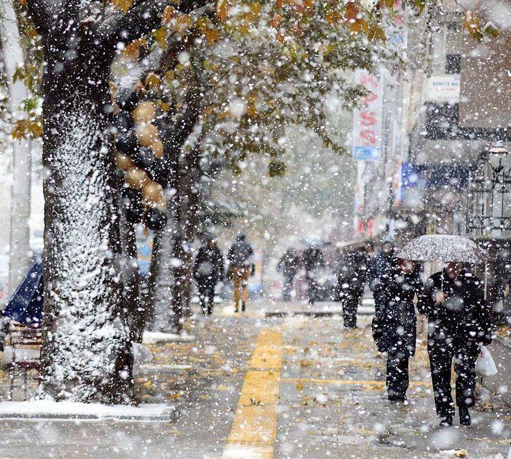 Ankara'dan kar manzaraları... Fotoğraf: Çağlar Şahin