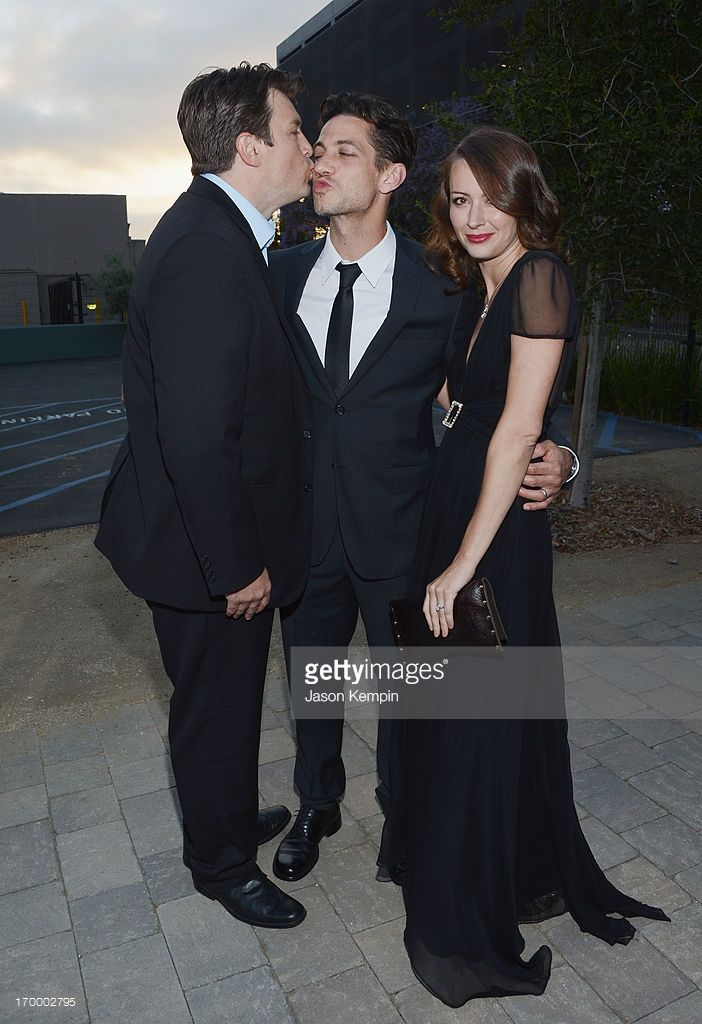 Actor <a gi-track='captionPersonalityLinkClicked' href=/galleries/search?phrase=Nathan+Fillion&family=editorial&specificpeople=834463 ng-click='$event.stopPropagation()'>Nathan Fillion</a>, <a gi-track='captionPersonalityLinkClicked' href=/galleries/search?phrase=James+Carpinello&family=editorial&specificpeople=693242 ng-click='$event.stopPropagation()'>James Carpinello</a> and actress <a gi-track='captionPersonalityLinkClicked'…
