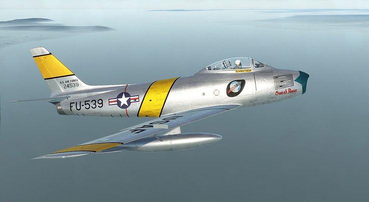 F86-F Korean War Sabre FU-539 Sweet Rose CC Wally Yocum Skin by Jon Pritchard