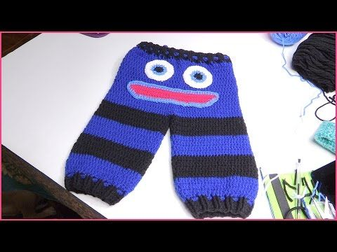 In this video I show how to make monster pants to fit a 6-12 month old baby.