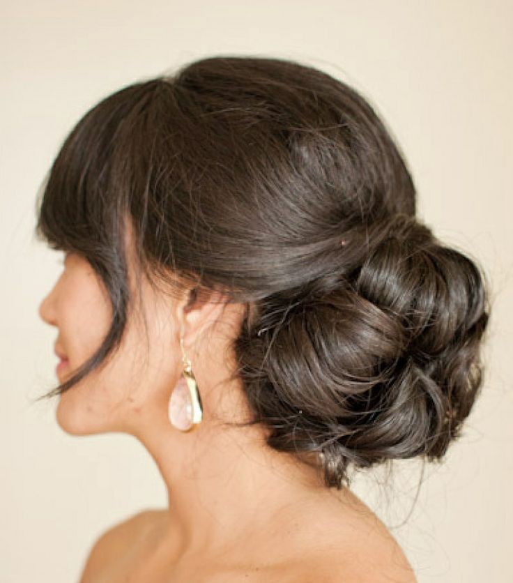 Wedding Hairstyle With Bangs: 11 Best Updos With Bangs Images On Pinterest