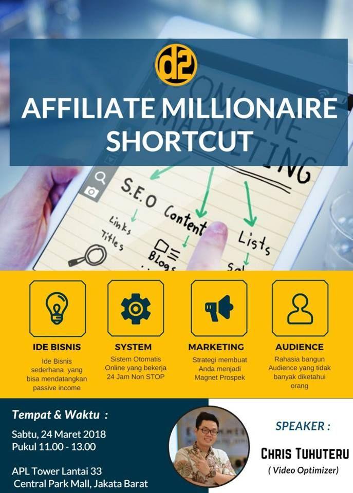 Event Affiliate Millionaire Shortcut