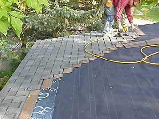 Installing architectural shingles on a small house. Good project for someone with a little experience who is not overly afraid of heights. Architectural shingles give the roof a nice textured look and last longer than regular 3-tab shingles.