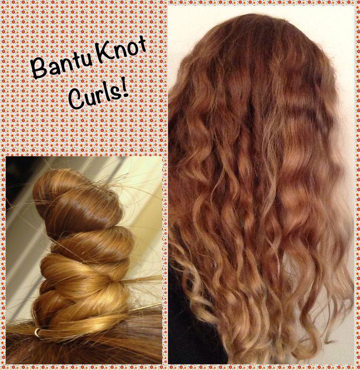 Bantu Knot Curls - no heat!