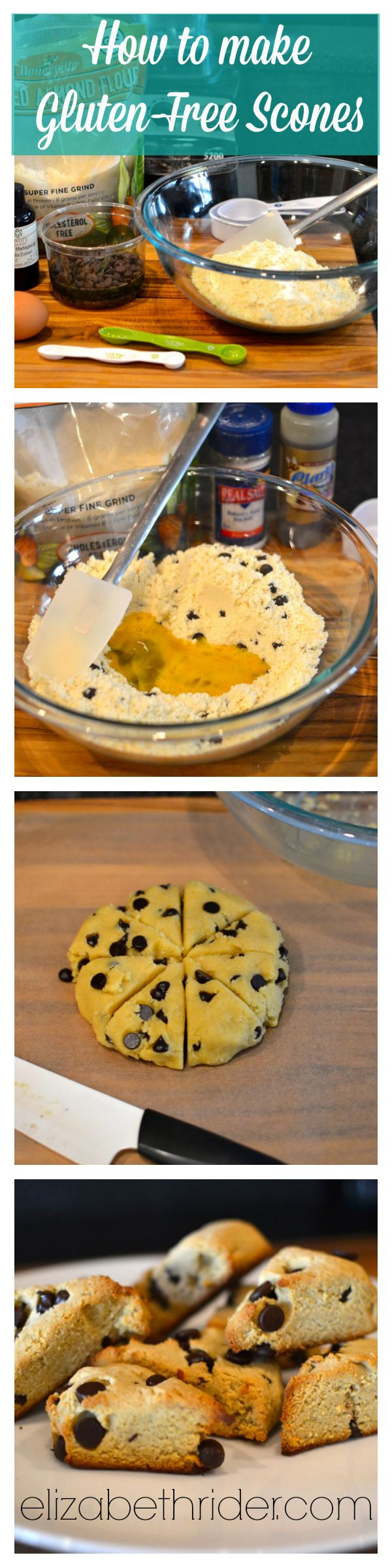 How to Make Gluten-Free Scones (with recipe): Step-by-Step instructions on www.elizabethrider.com