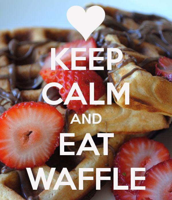 KEEP CALM AND EAT WAFFLE