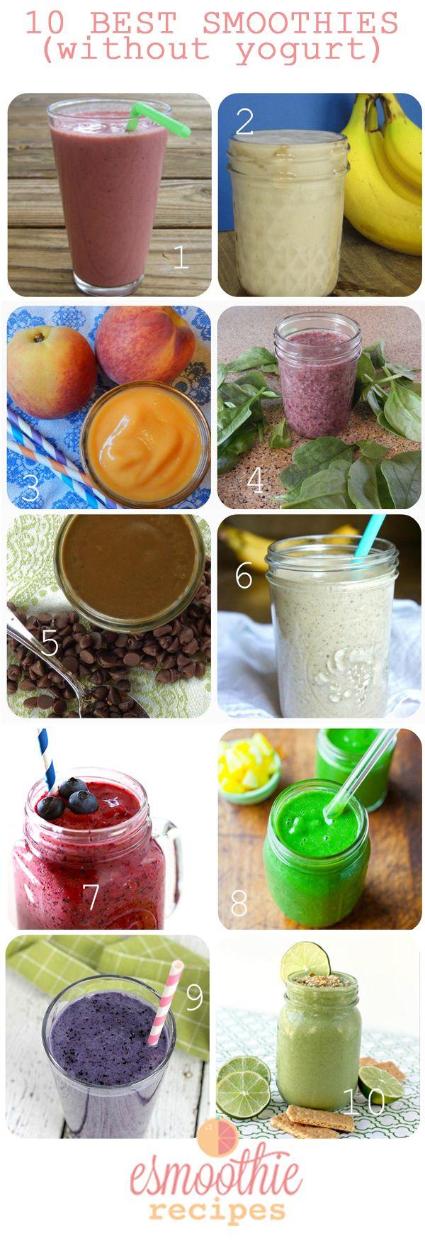 7 Ways to Make Smoothies without Yogurt   Recipes   http://www.esmoothierecipesforkids.com/7-ways-make-smoothies-without-yogurt-recipes/