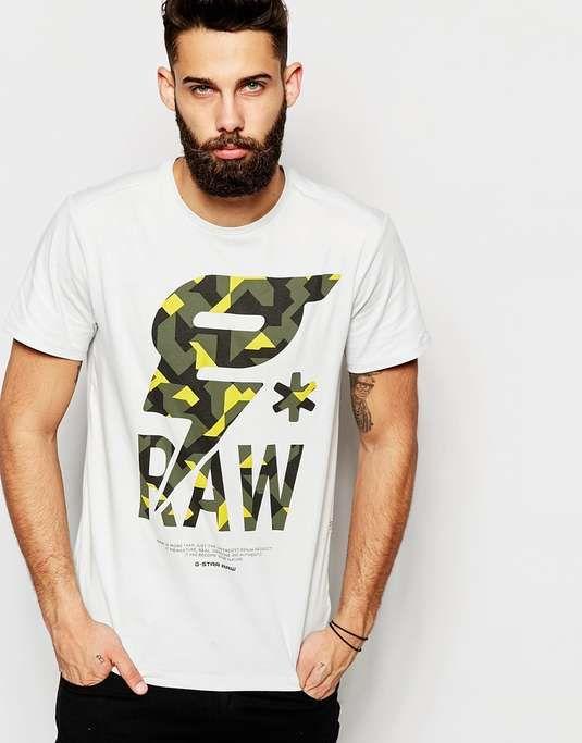 G-Star | T-Shirt Luis Camo G Raw Print #GStar #tshirt