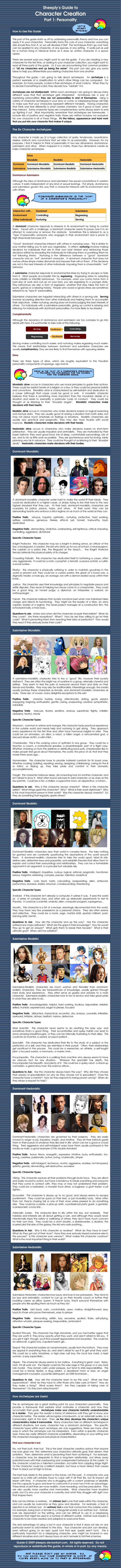 Character Creation Guide Pt 1 by ~Sheeply on deviantART. Sorry about the stupid language at the beginning. Haven't read over it all so hopefully it's not worse. PNRL