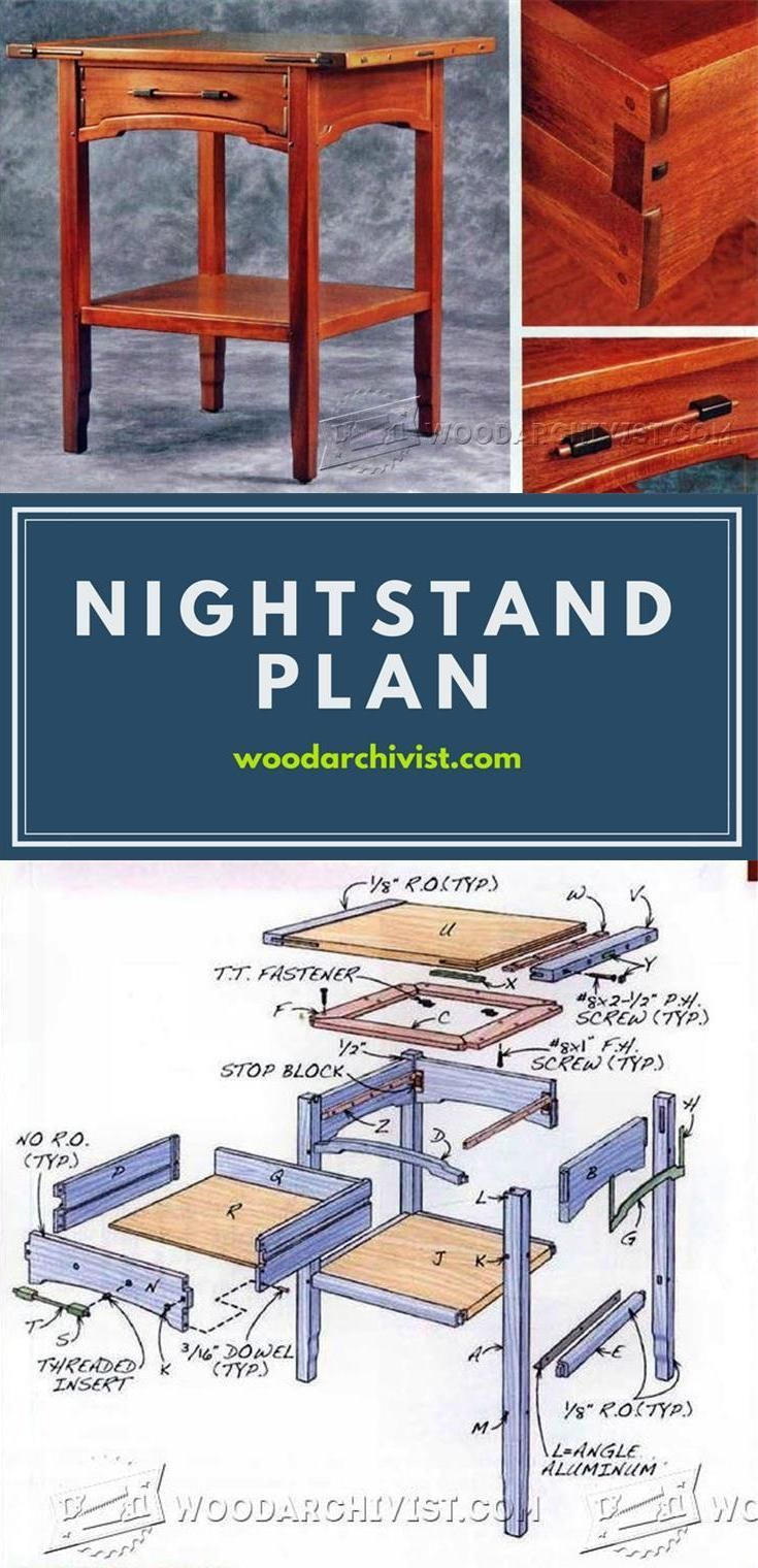 Nightstand plans furniture plans and projects for Planos de carpinteria