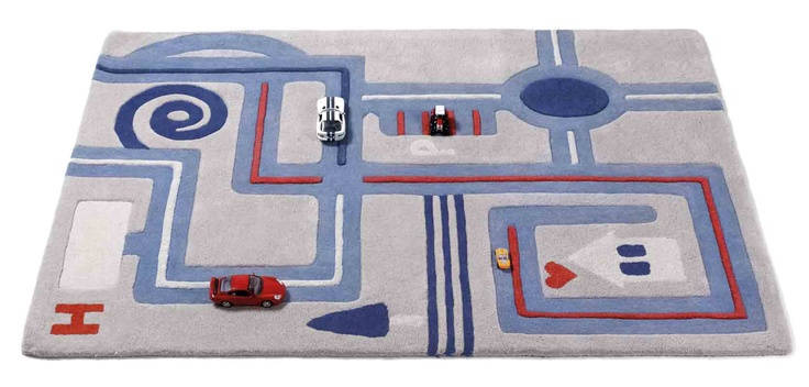 Alfombra infantil y juvenil modelo casper mb simula un - Alfombra circuito coches ...
