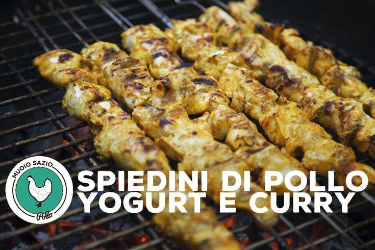 Spiedini di Pollo Yogurt e Curry di MuoioSazio