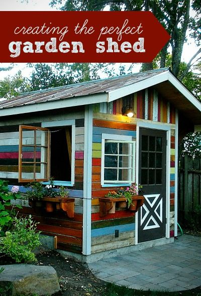 Some tips from my favorite gardeners on creating the perfect garden shed to house your tools, accessories, equipment and more!                                                                                                                                                                                 More