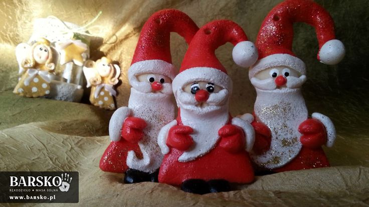 Salt Dough Santa Clauses