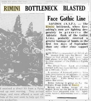 14 Sep 1944   RIMINI BOTTLENECK BLASTED_rimini foto di guerra