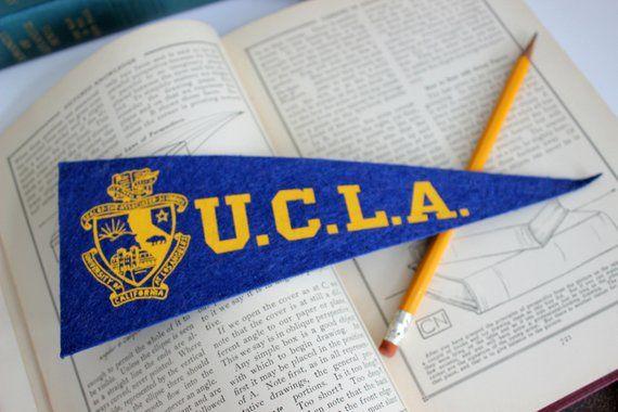 8190b4c7d1551 Vintage UCLA Mini Pennant Flag University of California at Los ...