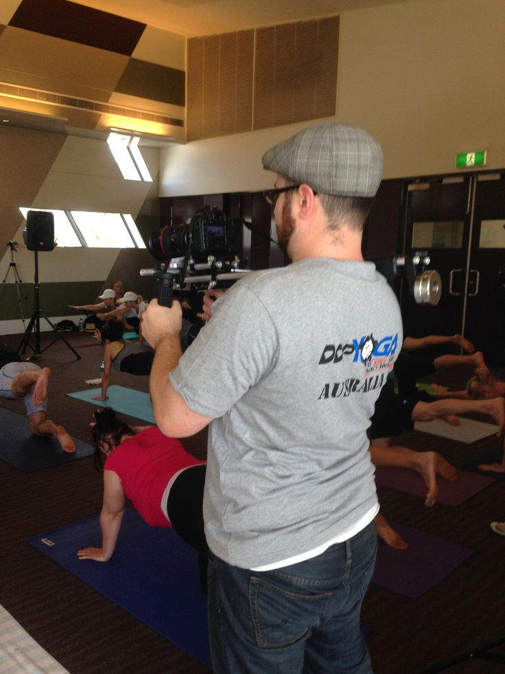 Another behind-the-scenes. Davin shooting the Open Day for #DDPYoga in Caulfield. #Yoga