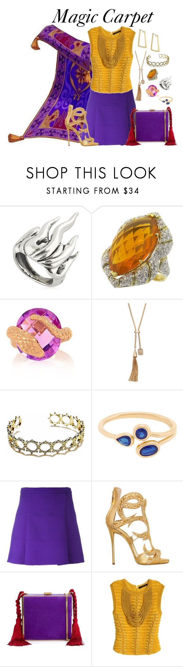 """Magic Carpet from Aladdin"" by pie-epic ❤ liked on Polyvore featuring Cantini MC Firenze, Alexandra Alberta, Jennifer Lopez, Agnes de Verneuil, AYA, Victoria, Victoria Beckham, Giuseppe Zanotti, Alessandra Rich, Balmain and Laundry by Shelli Segal"