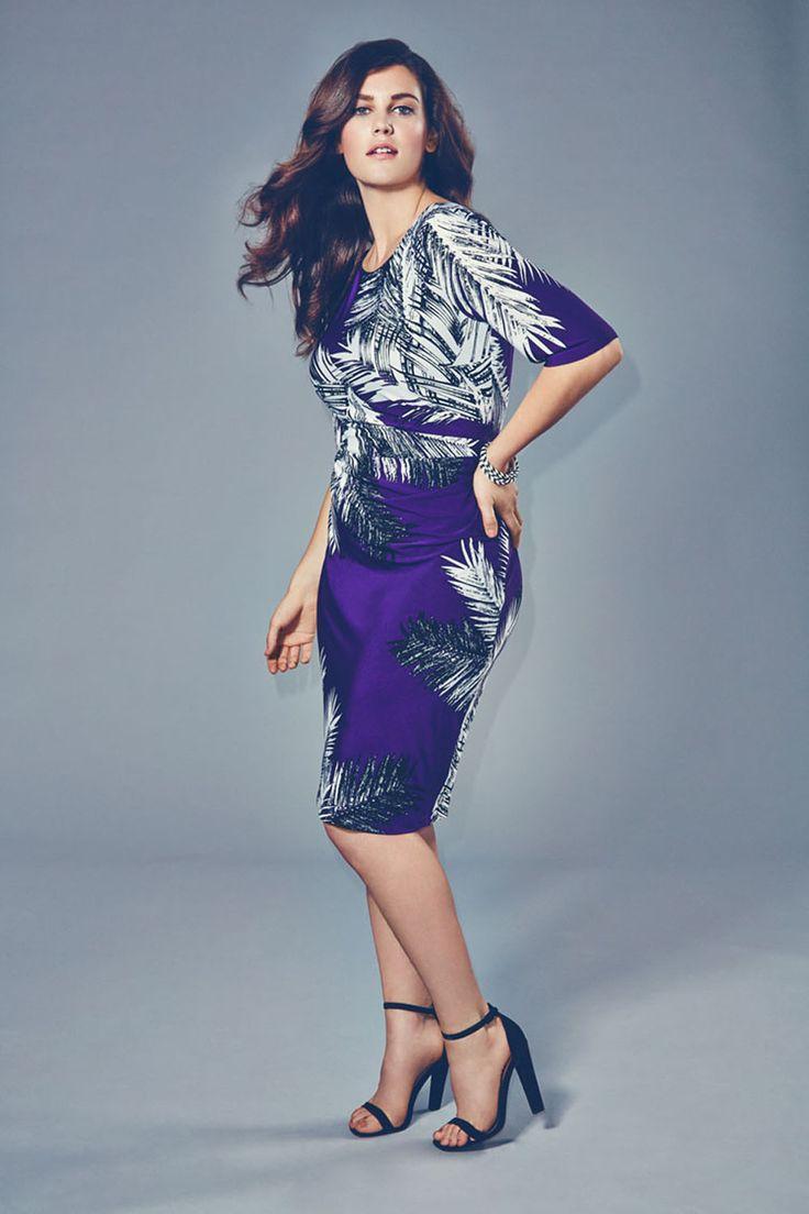 Ann Harvey Feather Print Jersey Dress
