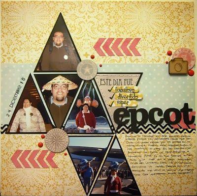 Layout con My Mind's Eye The Sweetest Thing sellos de Dilo en Español y madera de Wood Memories. Sk 104 para Libres de Ácido